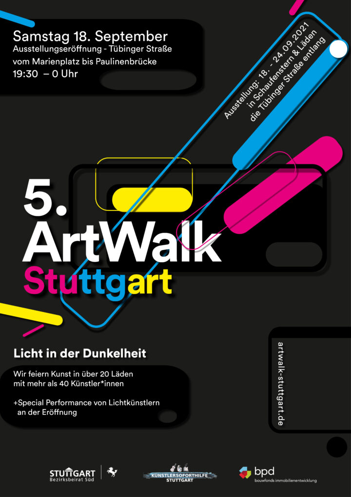 Flyer 5. ArtWalk Stuttgart